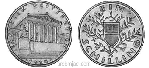 Srebrnjak 1 schilling 1925-1932