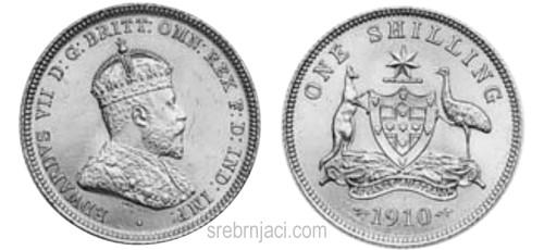 Srebrnjak 1 schilling Edward VII