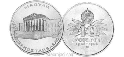 Srebrnjak 10 forint 1946-1956.