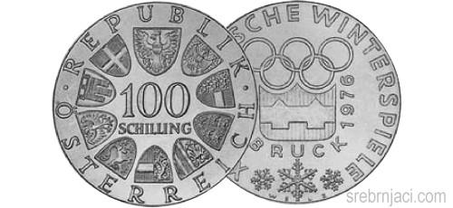 Srebrnjaci 100 schilling 1974 - 1979