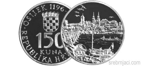 Srebrnjak 150 kuna Grad Osijek, 1996