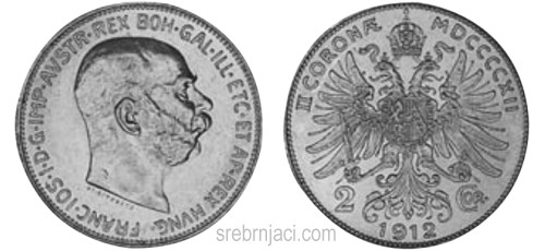 Srebrnjak 2 coronae Franc Ios, 1912-1913