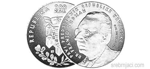 Srebrnjak 200 kuna dr. Franjo Tuđman, 1997.