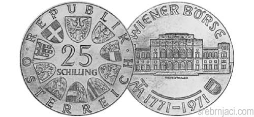 Srebrnjaci 25 schilling od 1957. do 1973.