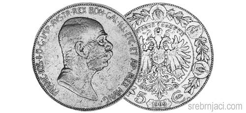 Srebrnjak 5 coronae Franc Ios 1907-1909