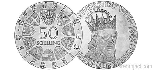 Srebrnjaci 50 schilling od 1959. do 1973.