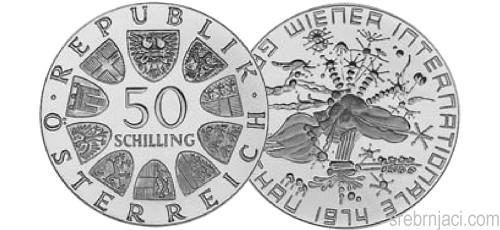 Srebrnjaci 50 schilling od 1974. do 1978.