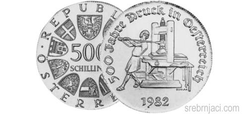 Srebrnjaci 500 schilling od 1980. do 1982.