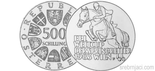 Srebrnjaci 500 schilling F.E.I. Weltcup der Springereiter, Wien, 1983