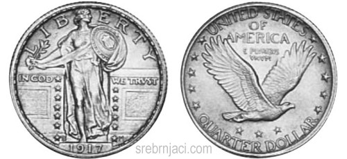 Srebrnjak quarter dollar Walking Liberty