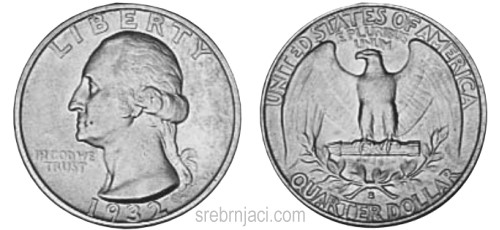 Srebrnjak quarter dollar Washington