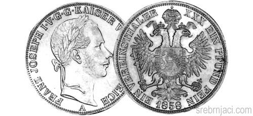 Srebrnjak 1 thaler 1857. do 1868.
