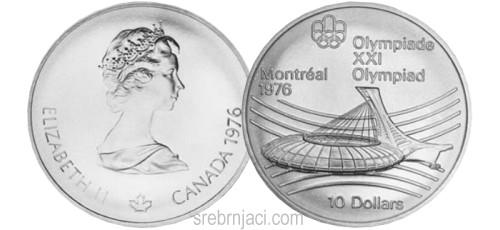 Komemorativni srebrnjaci 10 dollars, Olimpijada Montreal