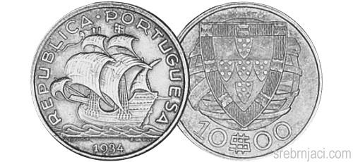 Srebrnjak 10 escudos od 1932. do 1948.