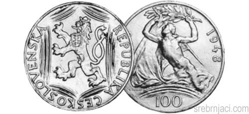 Srebrnjaci 100 korun, od 1948. do 1951.