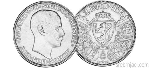 Srebrnjaci 2 kroner od 1878. do 1917.