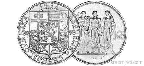Srebrnjaci 20 korun, od 1933. do 1937.