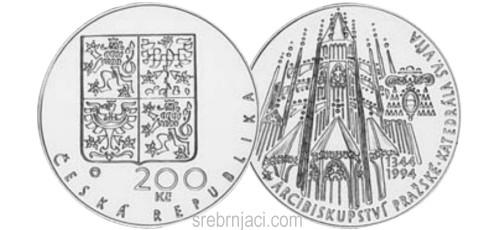 Komemorativni srebrnjaci 200 korun, od 1993.