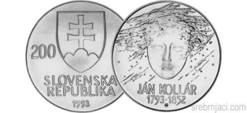 Komemorativni srebrnjaci 200 koruna, od 1993. do 2008.