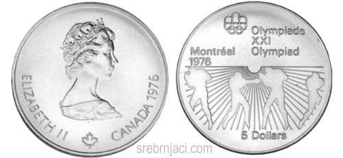 Komemorativni srebrnjaci 5 dollars, Olimpijada Montreal