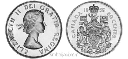 Srebrnjaci 50 cents, od 1920. do 1967.