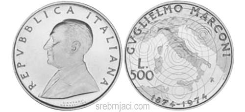 Komemorativni srebrnjaci 500 lire, od 1958. do 1993.