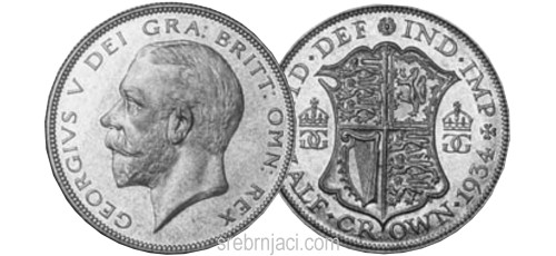 Srebrnjaci Half Crown od 1920. do 1946.
