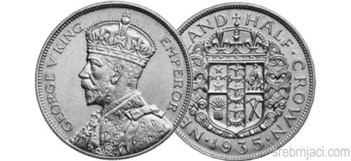 Srebrnjaci 1 florin King George, od 1933. do 1946.
