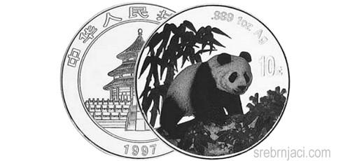 Investicijski srebrnjak Kineski panda